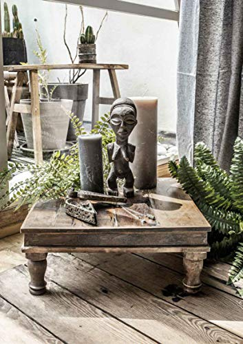 STUFF Loft Mesa auxiliar de madera reciclada, diseño vintage, en diferentes tamaños