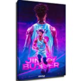 Poster board diamond painting Jimmy-Butler-Dribble canvas wall art 24x36inch