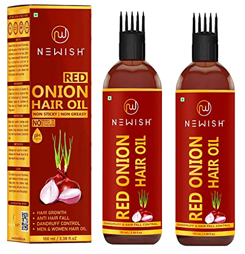 Newish® Onion hair oil for hair growth (100ml - PACK OF 2)