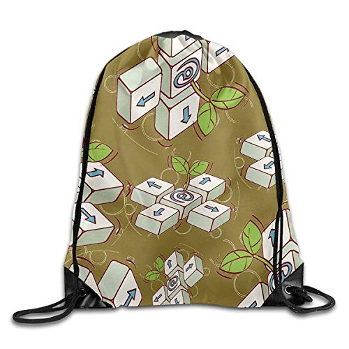 Etryrt Prämie Turnbeutel,Sporttaschen, Funny Keyboard Unisex Waterproof Backpack Gym Drawstring Bags.