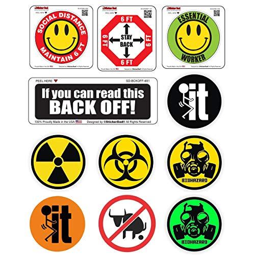 Essential Helmet Sticker Bundle 2020 (11 Stickers Included) Full Color Printed - Hard Hat, Helmet, Windows, Walls, Bumpers, Laptop, Lockers, etc.