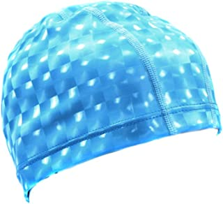 Adult Swimming Hat Elastic Flexible Durable Ladies Mens Swim Cap