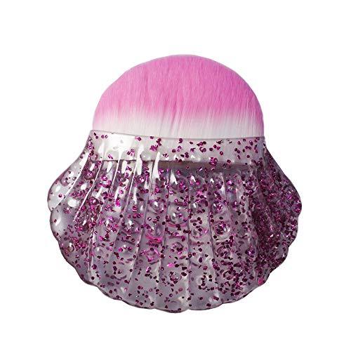 Blush pinceau fond de teint liquide Premium Foundation Blush Brosse Simple Shell Forme Cosmétique Outil Brosse Beauté Maquillage Outils Portable Multifonctionnel Personnalité Maquillage Brosses Brosse