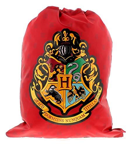 Harry Potter Bolsa de cordón bolsas y accesorios de material sintético para niños, color rojo, negro y multicolor