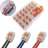 morsettiere elettriche,ctricalver capicorda a morsetto a leva connettore cavo elettrico kit di morsettiere,blocchi connettori elettrici 21 pezzi 2 porte.