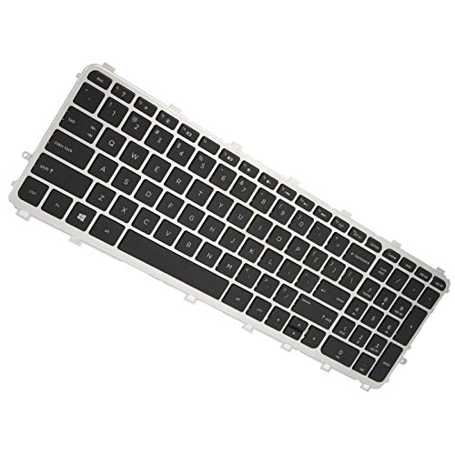 Portable Sensitive Light Laptop Accessories Sturdy Keyboard Keyboard Replacement Keyboard with Silver Frame for Laptop for Computer for PC