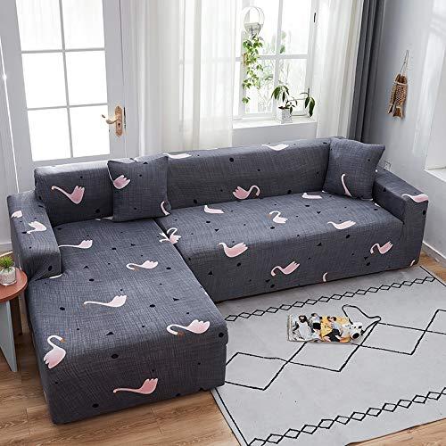 PPMP Funda de sofá elástica elástica, Utilizada para la Funda de sofá de Spandex de la Sala de Estar, Funda de sofá, Toalla de sofá elástica, Forma de L, Funda de sofá A14 de 2 plazas