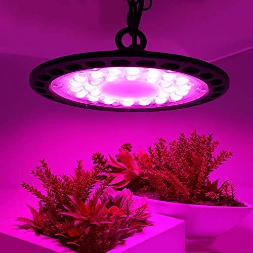 OVNI LED Cultive Light Light Lámpara de espectro completo, plantación de invernadero Cultive la luz, la luz del crecimiento de la planta del platillo volador, para los suculentos y el comienzo de la s