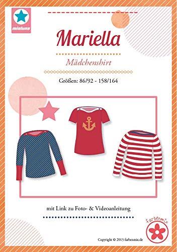 Farbenmix Mariella Schnittmuster (Papierschnittmuster für die Größen 74/80-158/164) Shirt