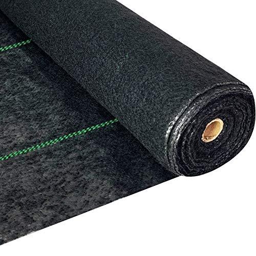 WAENLIR 5.8oz Heavy Duty Weed Barrier Landscape Fabric,Premium Durable Weed Blocker Cover,Outdoor Gardening Weed Control Mat 3ft x50ft