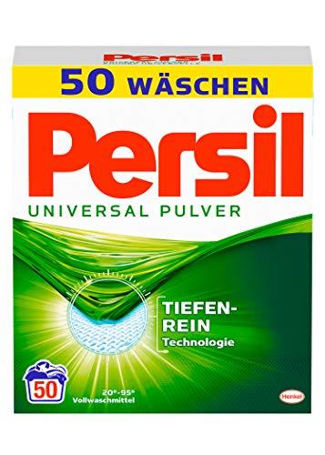 Persil Universal Pulver, Vollwaschmittel 50 (1 x 50) Waschladungen für hygienisch reine Wäsche