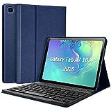 Funda con Teclado para Samsung Tab A7 10.4'' 2020, Español Ñ Teclado Wireless Bluetooth Magnético para Galaxy SM Tab A7 2020 T500 T505 T507, Cubierta Estuche con Samsung Tab A7 10.4 2020