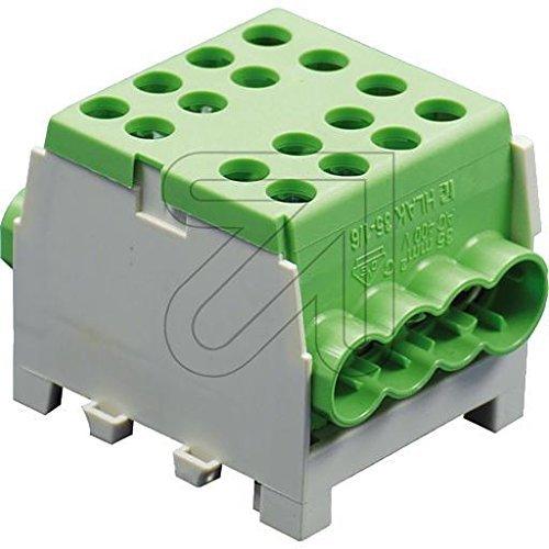 Pollmann Hauptleitungs-Abzweigklemmen HLAK 35-1/6 M2 grün