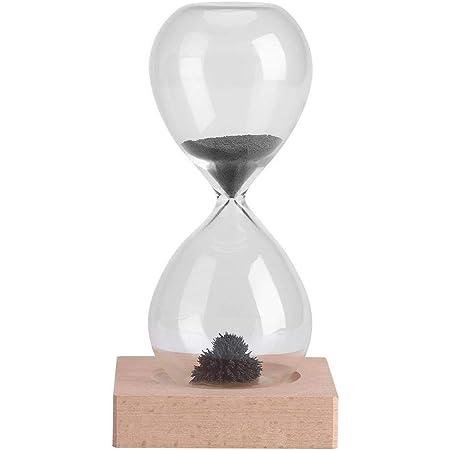 Hourglass Timer - Magnetico a Clessidra Soffiato Sand Timer Tavolino della Decorazione Dispaly con Base
