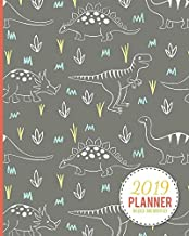 2019 Planner Weekly And Monthly: Calendar Schedule and Organizer. Inspirational Quotes, Dinosaur Pattern Cover | January 2019 through December 2019
