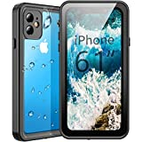 Temdan Waterproof iPhone 11 Case, 360 Rugged Heavy Duty Full Body Shockproof Clear Case Built in Screen Protector Waterproof Cases for iPhone 11 6.1 Inch 2019 Release(Black/Clear)