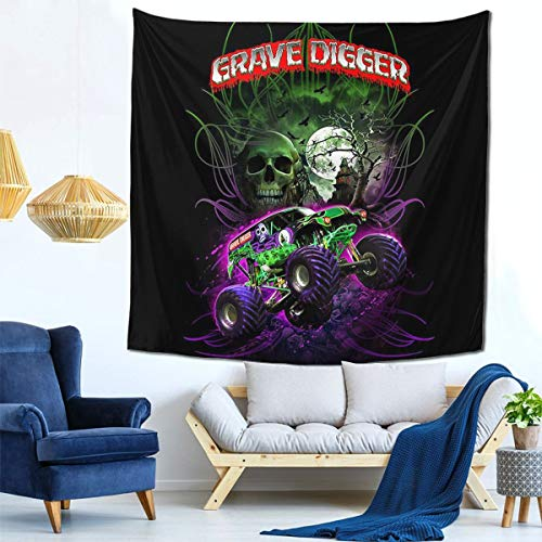 YAOAO Gra-Ve Digg-Er Truck Customize Tapestry Wall Hanging for Living Room Bedroom Decor