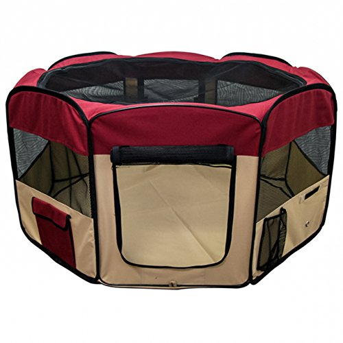 Best Choice Products Pet Puppy Dog Playpen Exercise Pen Kennel 600d Oxford Cloth