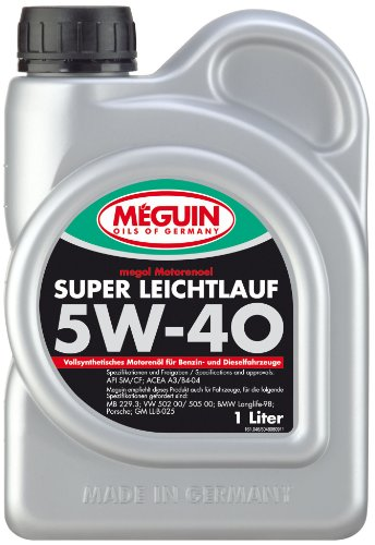 Meguin P002068 4808 Megol Motoröl Super Leichtlauf SAE 5W-40 (Vollsynthetisch), 1 L
