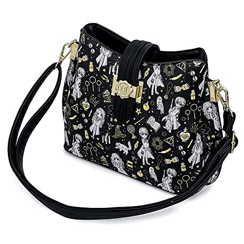 Loungefly Harry Potter Magical Elements All Over Print Crossbody Purse
