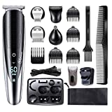 HATTEKER Mens Beard Trimmer Grooming kit Hair Trimmer Mustache Trimmer Body Groomer Trimmer