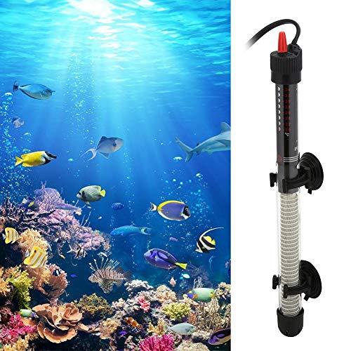FOTABPYTI 【𝐏𝐫𝐨𝐦𝐨𝐭𝐢𝐨𝐧 𝐝𝐞 𝐏â𝐪𝐮𝐞𝐬】 Thermoplongeur 300 W, Aquarium en Verre Submersible Automatique Chauffe-Eau à température constante Accessoires d'aquarium(EU)