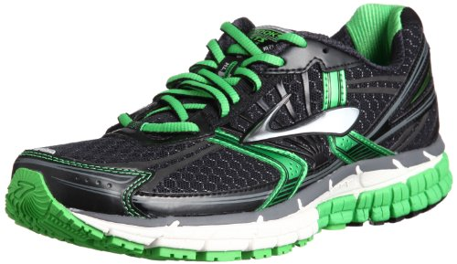 Brooks Mens Adrenaline Gts 14 M Black/Speed Green/Silver Ankle-High Synthetic Running Shoe - 10.5M