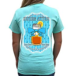 Southern Attitude Sweet Tea Sea Foam Green Short Sleeve Shirt