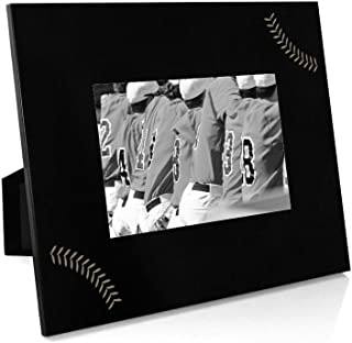 Stitches Frame   Engraved Baseball Picture Frame by ChalkTalk Sports   Horizontal 5X7