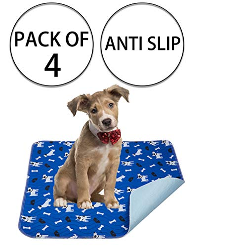 Yangbaga Washable Pee Pads for Dogs, 4 PCS Non Slip Puppy Pads, 16x23.6in Whelping Pads with Great...
