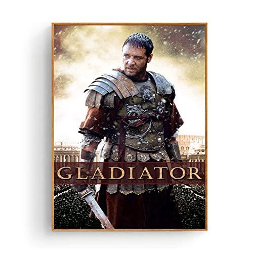 PELÍCULA Gladiator Cartel de Tela de Seda e impresión Arte de la Pared Cuadro Pintura Decoración para el hogar-50X70cm sin Marco