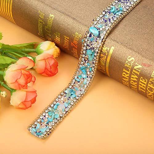 Rollo de cinta de diamantes de imitación de cristal, piedras trituradas de...