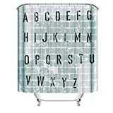ABC Shower Curtains aus Stoff lang groß größe größen wasserdichter Stoff ueberlaenge breiter duschvorhaenge Textil lang extra überlänge hängen Vorhang