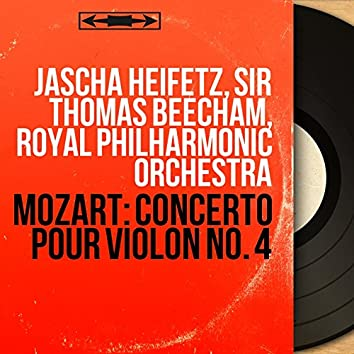 Mozart: Concerto pour violon No. 4 (Mono Version)