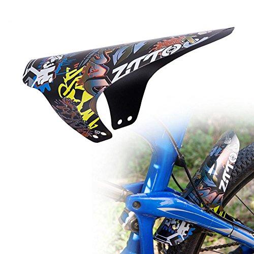 su-luoyu MTB Bike Guardabarros Bicicleta Color Fender Calle Auto Mountain Bike Mudguard, Trasera y Delantera Protección contra Salpicaduras, Mode Imprimir Cycling Guardabarros, Fixie Bike