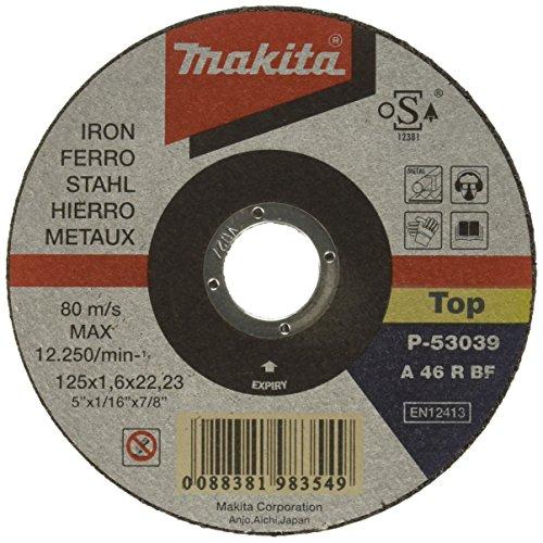 Makita P-53039 Trennscheibe 125x1,6mm Stahl, Mehrfarbig