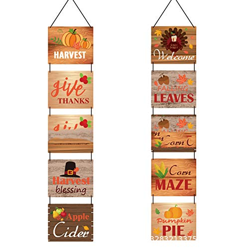 royalr Paper Fall Porch Sign Autumn Front Door Front Door Banner Flag Hanging Pendant Home Yard Party Decors
