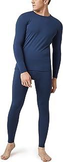 LAPASA Men's Thermal Long Johns Underwear Set , Warm Fleece Lined Top & Bottom Light/Mid/Heavy Weight (Thermoflux M11 M57 ...