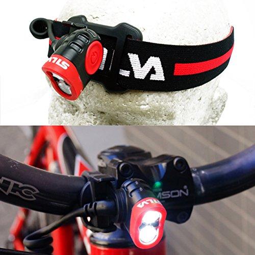 Linterna Cinta, Negro, Rojo, ABS sint/éticos, Policarbonato, LED, 400 LM, 85m Silva Schneider Trail Speed