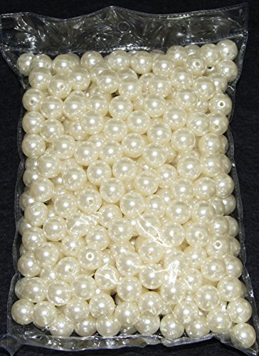 1 Pound Jumbo Pearls Decorative Vase Filler for Wedding Centerpiece - 20mm (Ivory)