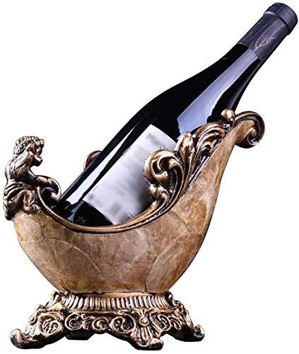 Racks Wine Bottle Holder Decoration Seashell Angel Bottle Holder Wine Living Room Restaurant Ornament 26 * 20cm LQHZWYC (Color : Multi-colored, Size : 26 * 20cm)