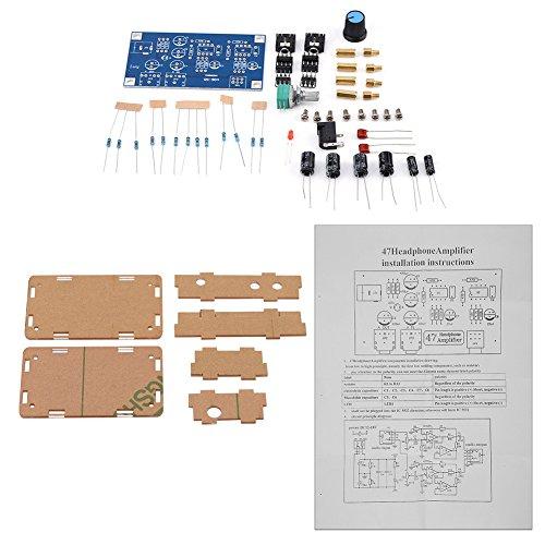 Zerone DIY NE5532P - Kit de Amplificador para Auriculares HiFi (47 K, con Carcasa Transparente, CC 3,7 V, 30 V, para conectar Entre Auriculares y Fuente de Audio)
