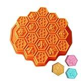 Nueva 19-cavity Mini molde de panal de abeja molde de silicona para jabón...
