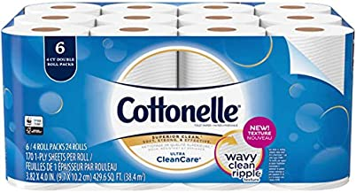 Cottonelle Ultra Clean Care Toilet Paper Bath Tissue, 24 Roll - Septic Safe