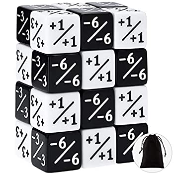 24 Pieces Dice Counters Token Dice Loyalty Dice D6 Dice Cube Compatible with MTG CCG Card Gaming Accessory