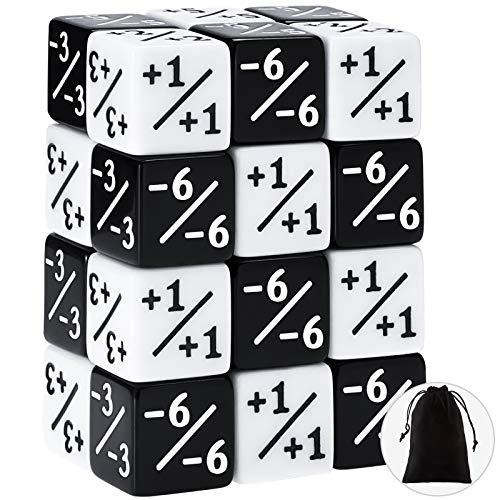 Gejoy 24 Piezas Contadores de Dados Dados de Ficha de Lealtad Cubo de Dados D6 Compatible con Accesorios para Juegos de Cartas MTG, CCG