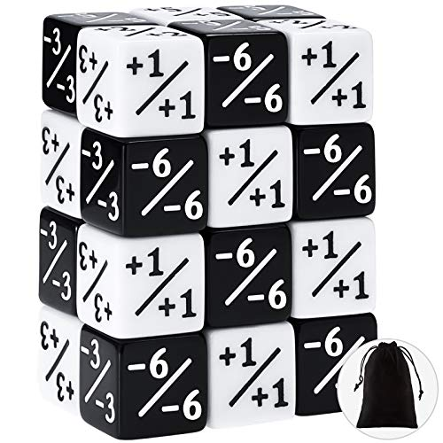 24 Pieces Dice Counters Token Dice Loyalty Dice D6 Dice Cube Compatible with MTG, CCG, Card Gaming...