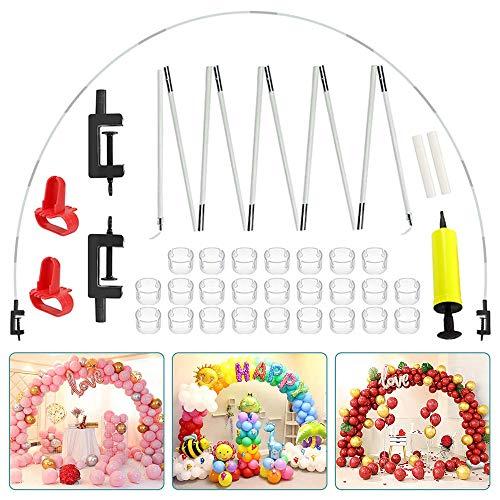 Sunshine smile 42 PCS Kit Arco Palloncino,Kit Arco semicircolare , Matrimonio Compleanno Laurea Natale Feste,Arco Palloncini,Palloncino da Tavolo Arco Kit