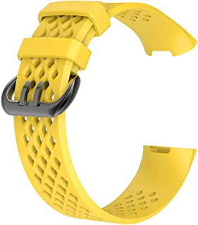 Compatible Fitbit Charge 3 Small & Large Silicone Strap Replacement Sport Watchband Wristband Wrist Band Kids/Adult Unisex