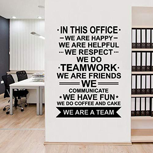 FXBSZ Office Office Wandaufkleber Unser Team Poster Zitat Arbeit Motivierende Teamarbeit Vinyl Aufkleber Motivierende Dekorative Wandaufkleber Blau 110x154cm
